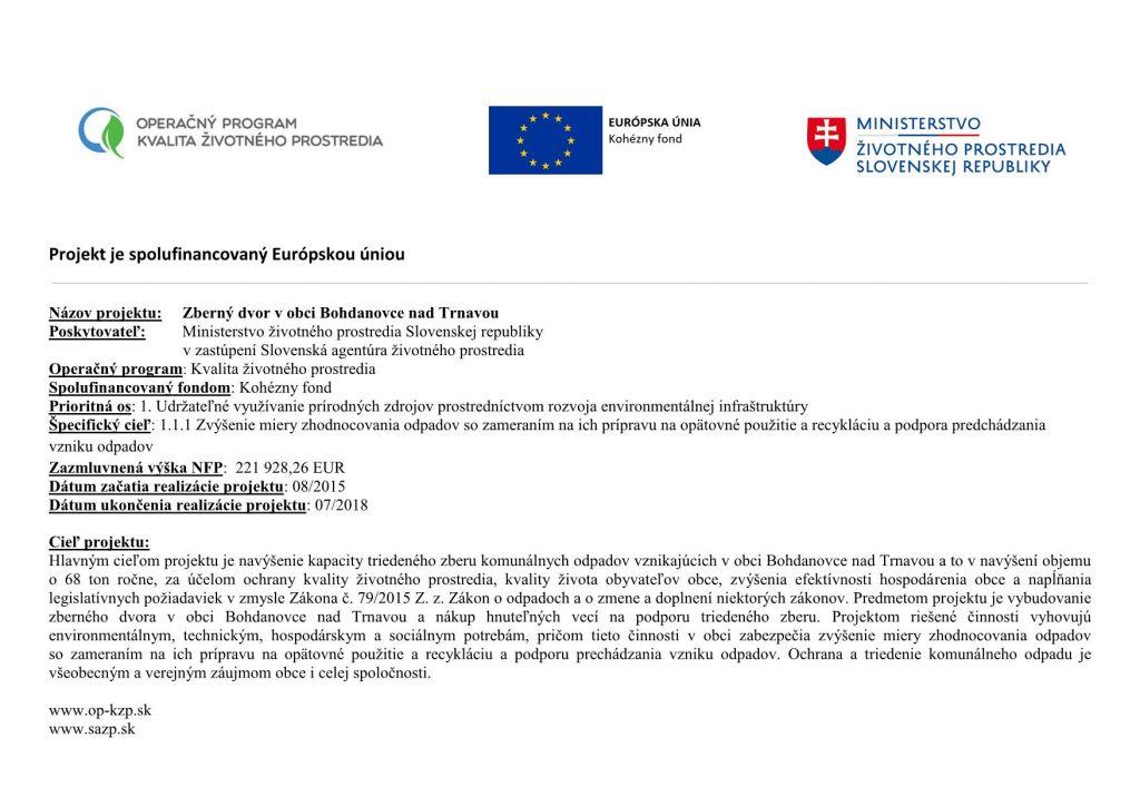 0d053fd94 Titulná strana - Oficiálne stránky obce Bohdanovce nad Trnavou